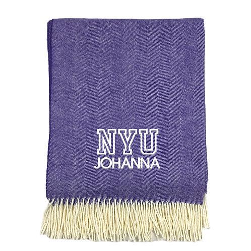 College Theme Herringbone Blanket