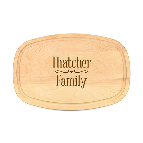 Personalized Maple Oval Board-16