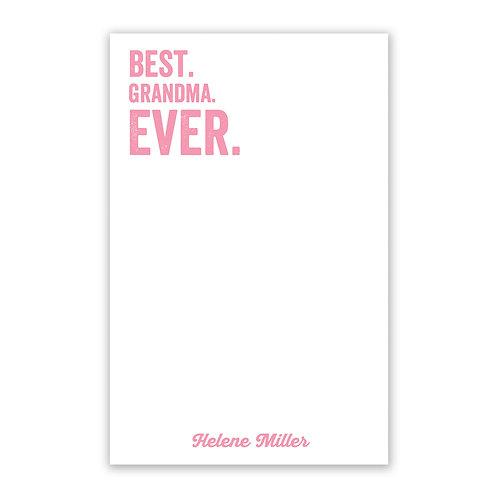 Best Grandma Ever Notepad