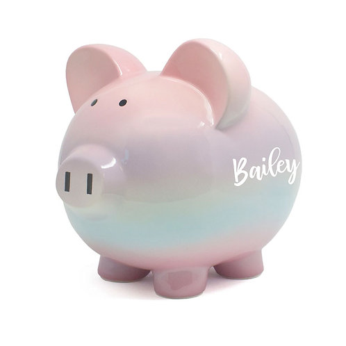 Pink Ombre  Piggy Bank
