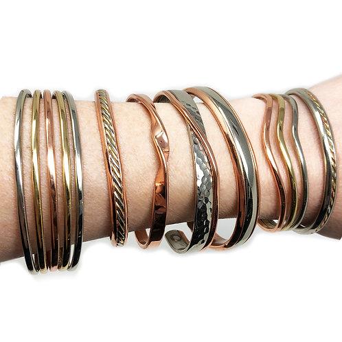 Sergio Metal Magnet Bracelets $30-$68