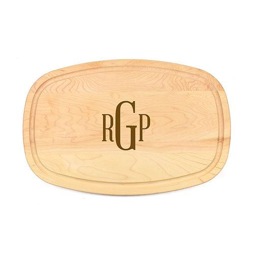 Personalized Maple Oval Board-15