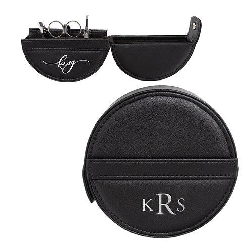 Round Manicure Set - Black