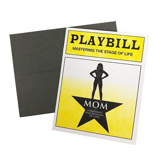 Mom Playbill Card