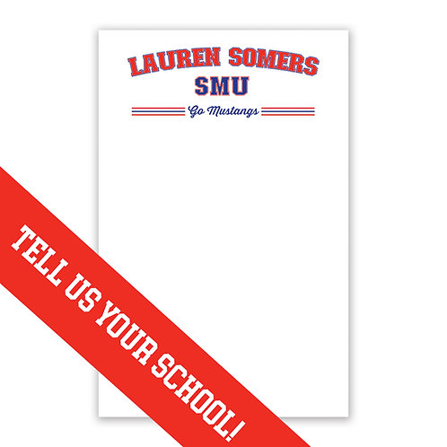 Personalized College Notepad