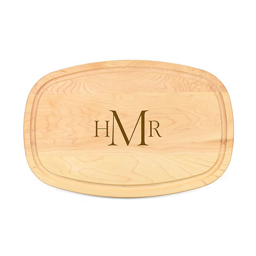 Personalized Maple Oval Board-06