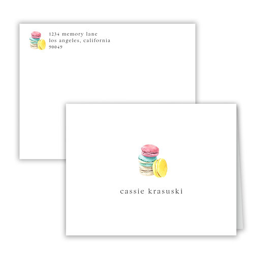 Personalized Notecards - Sweets