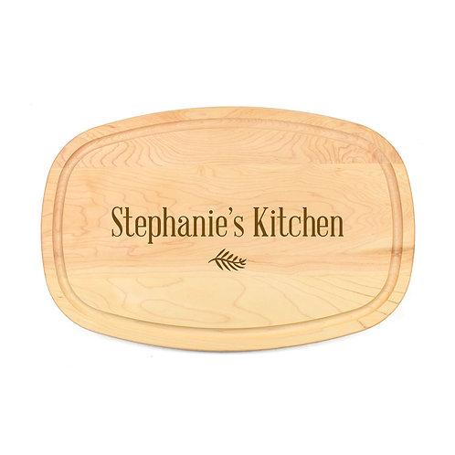 Personalized Maple Oval Board-10