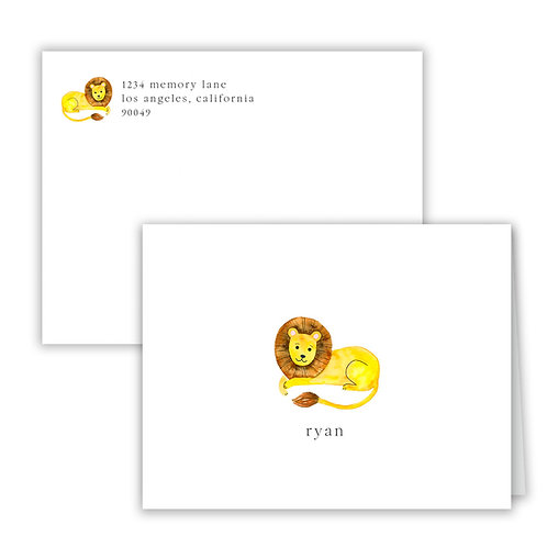 Personalized Notecards - Lion