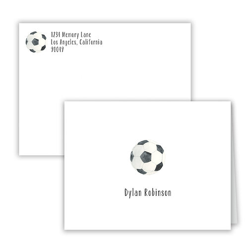 Personalized Notecards - Soccer