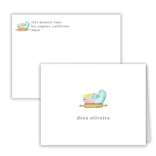 Personalized Notecards - Baking