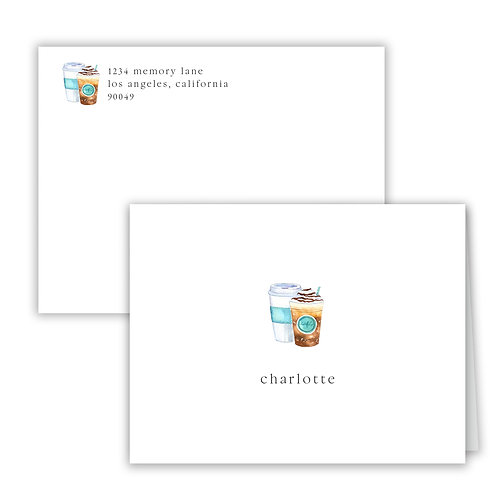 Personalized Notecards - Coffee