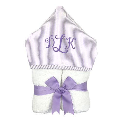 Big Kid Hooded Towel- Lilac