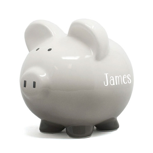 Grey Ombre  Piggy Bank