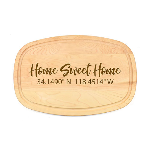 Personalized Maple Oval Board-12