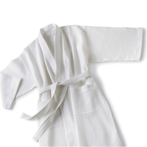 Waffle Weave Kimono Style Robe