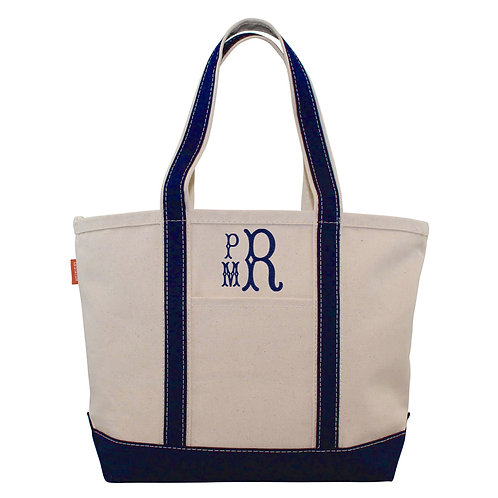 Personalized Medium Boat Tote Bag-assorted colors
