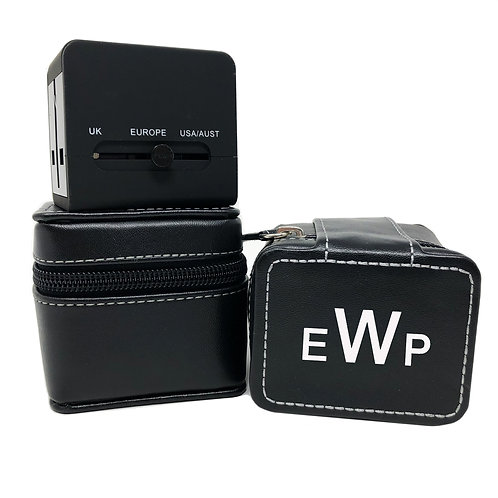 Personalized Leather Charger