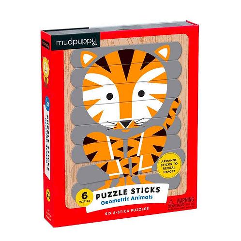 Geometric Animal Puzzle Sticks