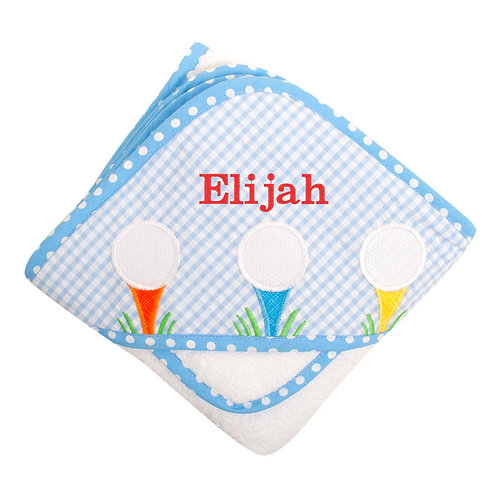 Personalized Golf Hooded Towel and Washcloth