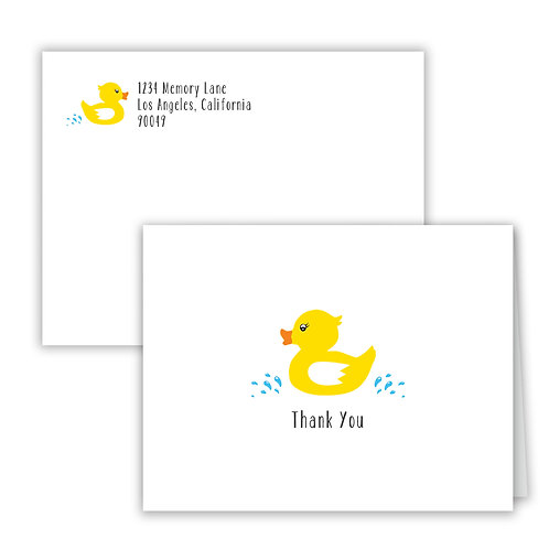 Personalized Notecards - Rubber Duckie