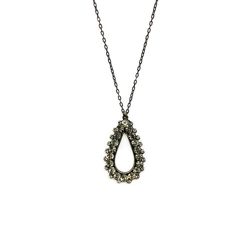 Pave Tear Drop Necklace