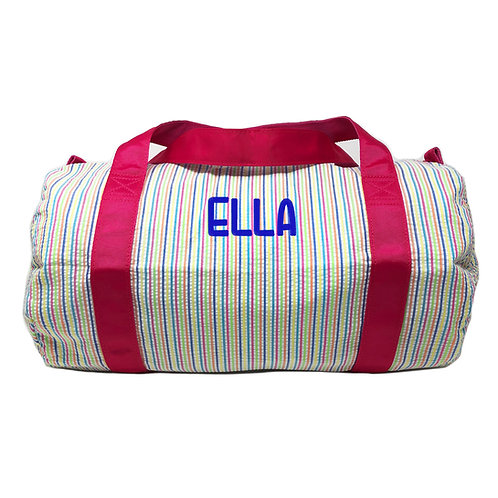 Personalized Oh Mint Medium Duffle Bag-Rainbow