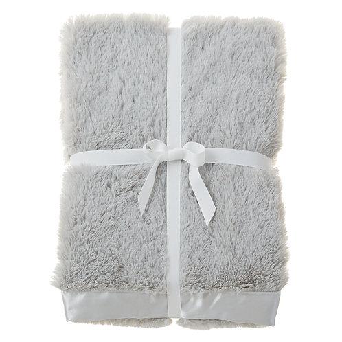 Gray Satin Trim Blanket