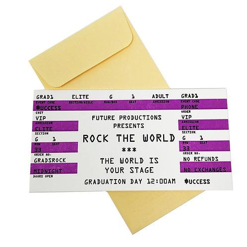 Grad Ticket card