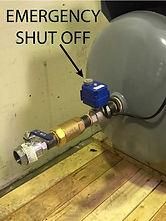 water pump vacuum priming system shut off valve