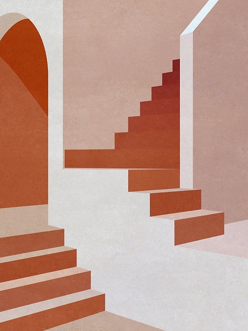Staircase in Pink