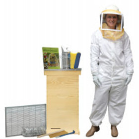 """10 Frame 6 5/8"""" Deluxe Beekeeping Starter Kit - Wood Frames - Painted   Product"""