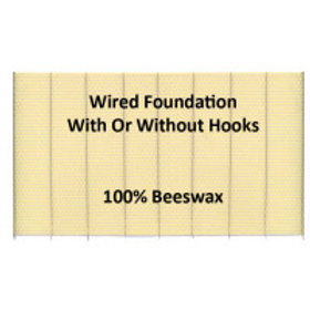 "4 3/4"" X 16 3/4"" (12.07 cm x 42.55 cm) Wired Foundation - With Hooks - 10 Sheets"