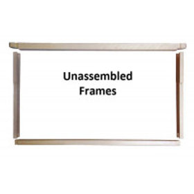 "6 1/4"" Unassembled Frames - Wedged Top & Split Bottom/Holes Endbars - 100 Pack"