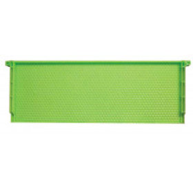 "6 1/4"" (15.88 cm) Green Plastic Drone Comb Frame - Case of 72"
