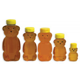 Plastic Squeeze Bear Bottles - With Yellow Lids