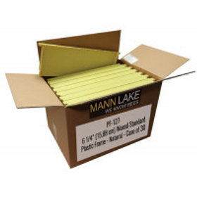 """6 1/4"""" (15.88 cm) Waxed Standard Plastic Frame - Natural - Case of 30"""