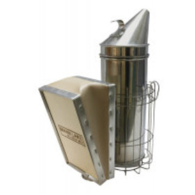 """4"""" x 10"""" (10.16 cm x 25.4 cm) Smoker - With Guard - Wood Bellow"""