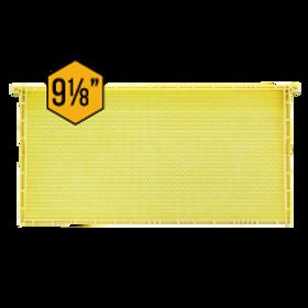 "9 1/8"" (23.18 cm) Waxed Standard Plastic Frame - Natural - Each"