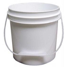 1 Gallon (3.78 l) White Plastic Pail