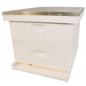"Complete 10 Frame 6 5/8"" (16.83 cm) Hive Kit - Wood Frames - Painted"