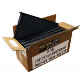 "9 1/8"" (23.18 cm) Waxed Standard Plastic Frame - Black - Case of 10"