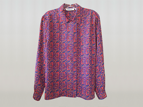 GIVENCHY 1980's Abstract Blouse
