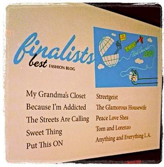 finalist in LA Weekly Web awards