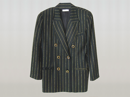 LEW MAGRAM 1980's Pinstripe Double Breasted Blazer