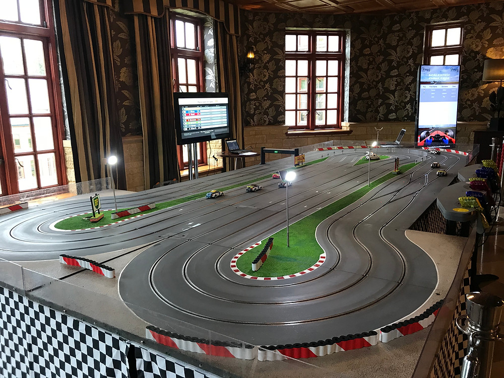 Giant Digital Scalextric hire, scalextric track rent
