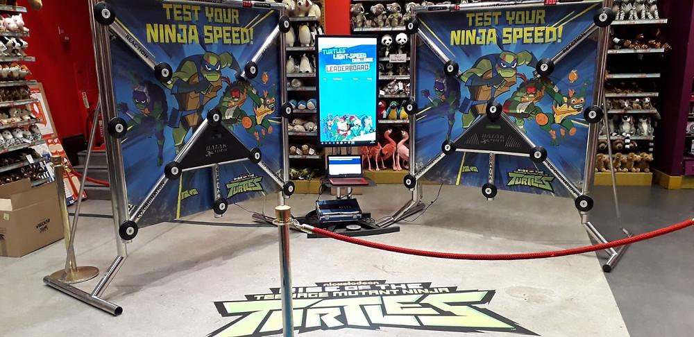 PSW Events Branded Batak Pro Machines at Hamleys London, Teenage Mutant Ninja Turtle