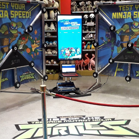 Teenage Mutant Ninja Turtles Reaction games Hamleys London