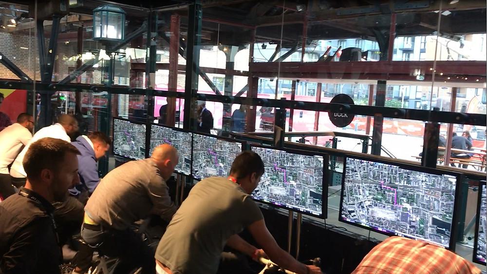 Cycling Simulator hire Tobacco Docks Cycle Simulators - Just Eat World Meet 2018