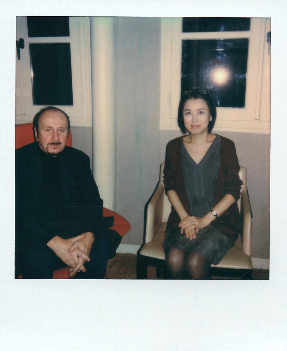 Portrait de Frédéric Migayrou et Yûki Yoshikawa au Polaroïd